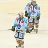 Ad Men Photo: The advertisement-covered uniforms of the Rapperswil-Jona ice hockey team in Switzerland.