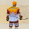 Fatuous Flames Photo: The leading scorer on Geneva-Servette's ice hockey team wearing a special jersey.