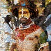 photo: Mega Mosaic 2011 - A photo mosaic of a Papua New Guinea tribesman.